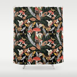 Nocturnal Forest Shower Curtain