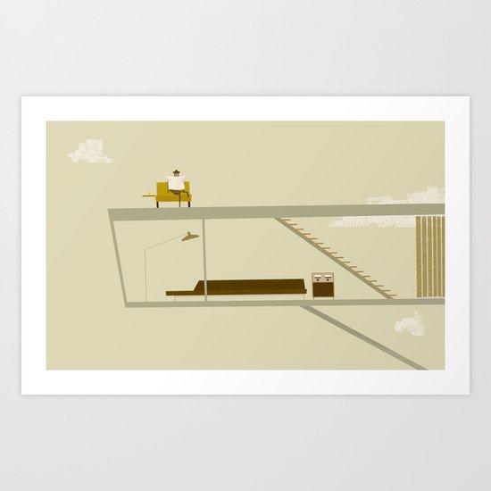 sur le toit Art Print