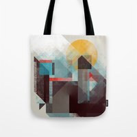 mountains Tote Bags featuring Over mountains by Efi Tolia