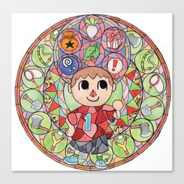 ACNL Villager Stained Glass  Canvas Print