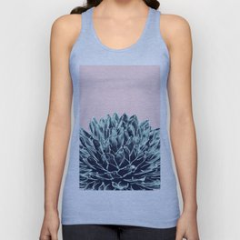 Blush Navy Blue Agave Chic #1 #succulent #decor #art #society6 Unisex Tank Top