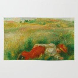 "Auguste Renoir ""Femme couchée dans l'herbe"" Rug"