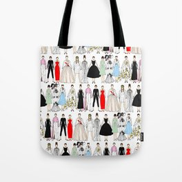 Outfits of Audrey Fashion (White) Tote Bag