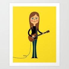 Guitar Hero Art Print