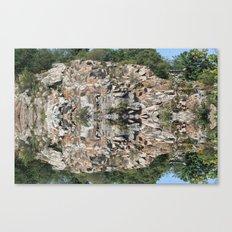 Flat Ledge Quarry Reflection Canvas Print