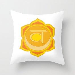 Sacral Chakra Svadhishthana Chakra Throw Pillow