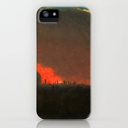 """John Constable """"Fire in London, Seen from Hampstead"""" iPhone Case"""