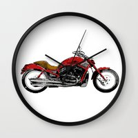 motorcycle Wall Clocks featuring Motorcycle by magnez2