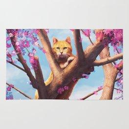 Cat in tree Rug