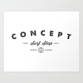 Concept Classic logo Art Print