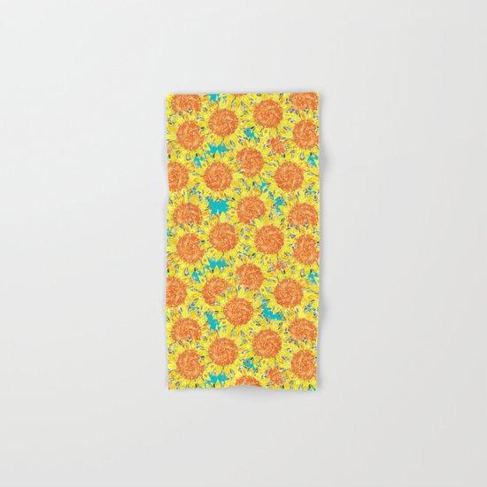 sunflower field Hand & Bath Towel