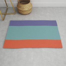 70s Color Palette - purple, turquoise,red - retro 3 color scheme Rug