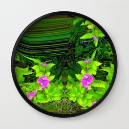 Another view into garden ... Wall Clock