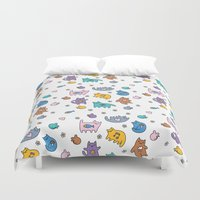 kittens Duvet Covers featuring Kittens by Plushedelica