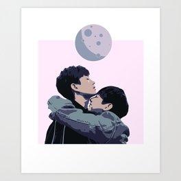 OffGun Moon Hug Art Print