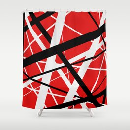 frankenstrat red Shower Curtain