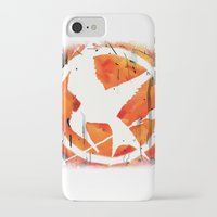 mockingjay iPhone & iPod Cases featuring The Mockingjay by Trinity Bennett