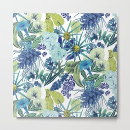 FLOWERPOWER (BLUE) Metal Print