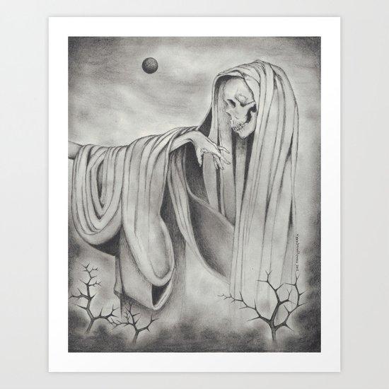 Black Blood Moon Art Print