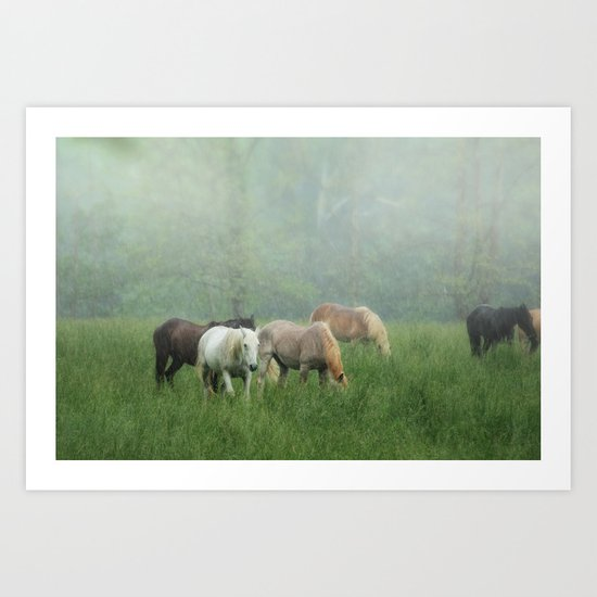 Out in the rain Art Print