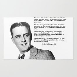 F Scott Fitzgerald quotes - For what it's worth Rug