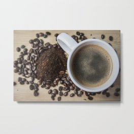 Good morning coffee! Metal Print
