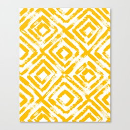Amber Yellow Geometric Print Canvas Print