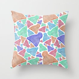 Wooly Bobble Hats Throw Pillow