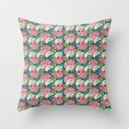 Runts Candy Girl Throw Pillow
