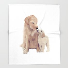 Golden retrievers Throw Blanket