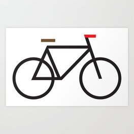 Bike graphic Art Print