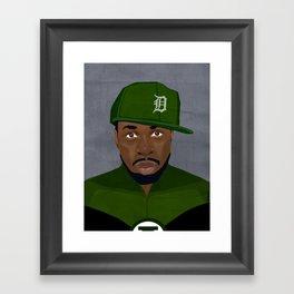 Detroit Hip-Hop Hero II Framed Art Print