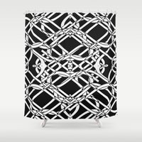 celtic Shower Curtains featuring Celtic Art by Alice Gosling