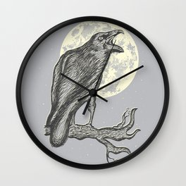 Night Caw Wall Clock