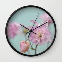 columbines pink Wall Clock