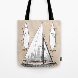 patent art Herreshoff  Sail Boat 1925 Tote Bag