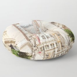 San Francisco Daydreaming in Union Square Floor Pillow