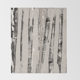 Shadow Branches Throw Blanket