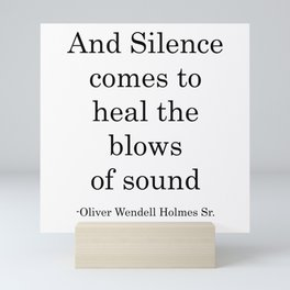 And Silence COmes Mini Art Print