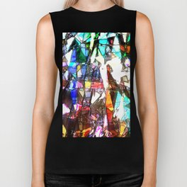 Light Streaming Through Stained Glass Biker Tank