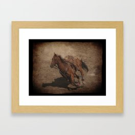 Break Away Rodeo Horse Framed Art Print