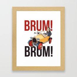 Brum Brum Framed Art Print