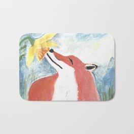 Fox and Daffodil Bath Mat