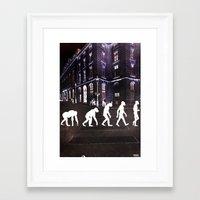 evolution Framed Art Prints featuring Evolution  by Joe Ganech