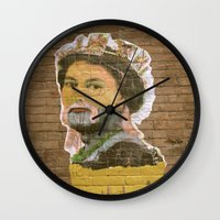 jenny liz rome Wall Clocks featuring Liz by Teresa Gabry