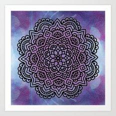 Midnight mandala Art Print
