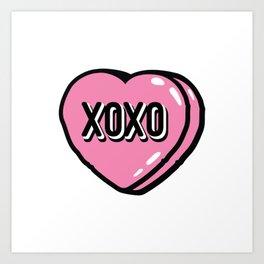 XOXO Heat Candy Art Print