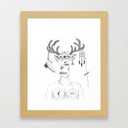woman in society Framed Art Print