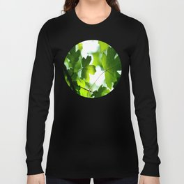 Green Maple Leaves Long Sleeve T-shirt