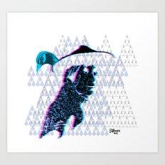 tewa girl Art Print